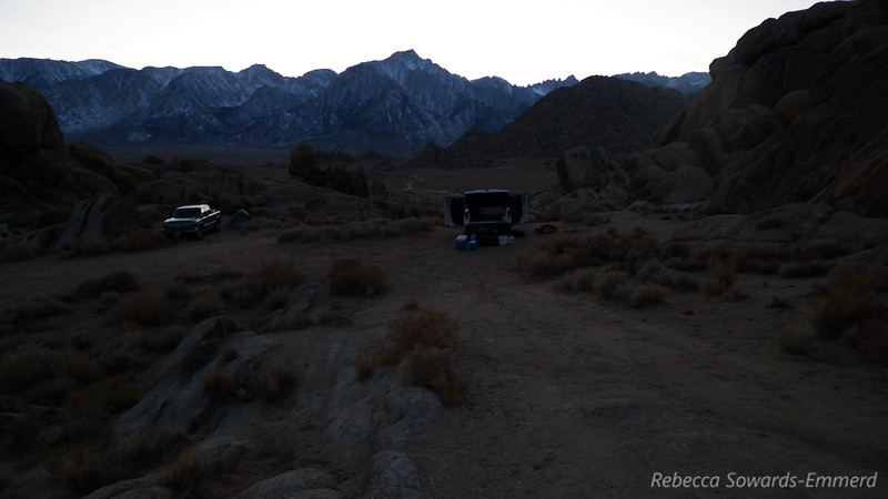 Camp in the Alabama Hills