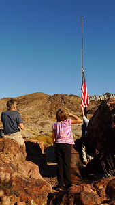 The flag is taken down at our desert vacation home. The proper procedures are followed.