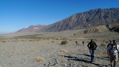 Off to hike Sidewinder canyon, near Badwater in death Valley