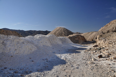 Lots of talc - but this was it, so I don't think this was a talc mine. I'd be interested to find out what was mined here.