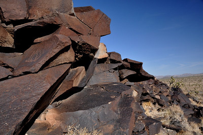 Petroglyphs - many abstract patterns here