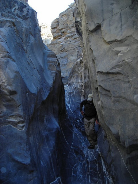 And Joe comes through the narrows and a short smooth dryfall.