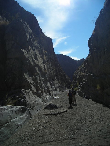 The Corridor is a nearly straight canyon that goes for ~2/3 mile.