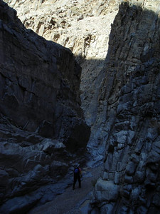 Kathy wanders through the canyon.