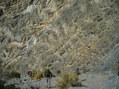 Continuing on  After spending some time at the petroglyphs we continued down the canyon.