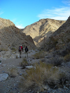 We begin our hike down to Corridor Canyon.