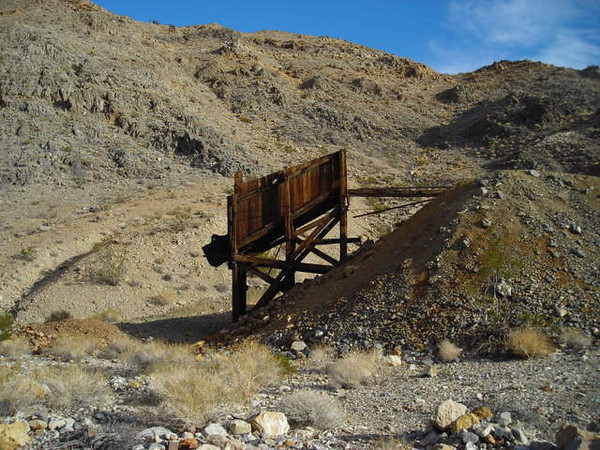 Ruins<br /> <br /> A pretty intact hopper left over from the lead mining days of Ubehebe.