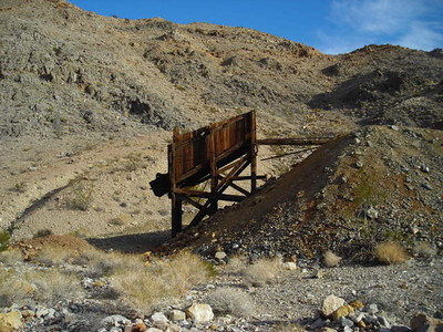 Ruins  A pretty intact hopper left over from the lead mining days of Ubehebe.