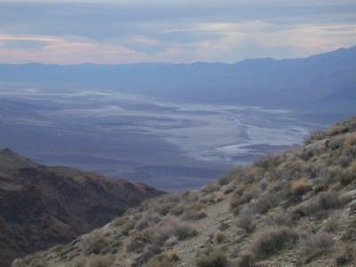 The floor of Death Valley far below us