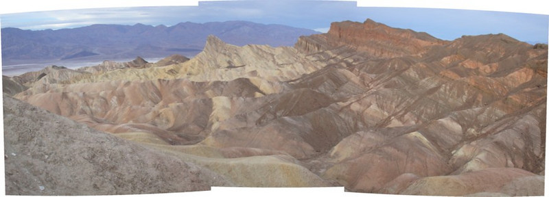 Zabriske point overlook panorama 2
