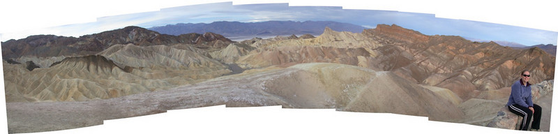 Zabriske point overlook panorama 1