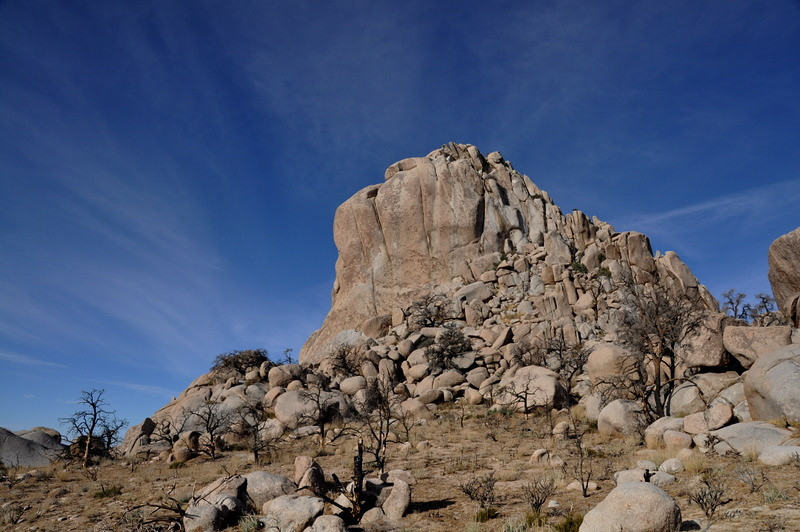 The bigger of the two Eagle Rocks