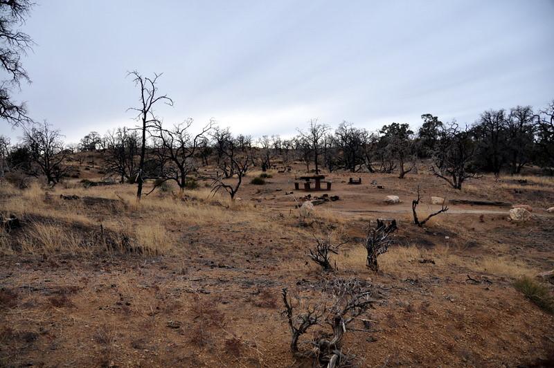 The empty campground.