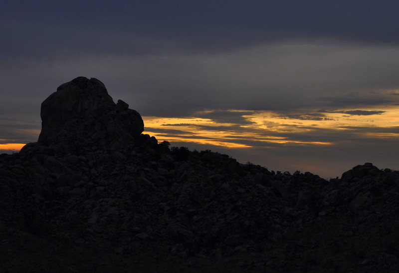Sunset and Eagle Rocks silhouette