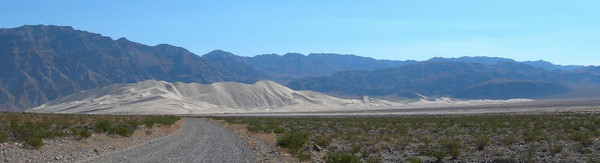 The Eureka Dunes come into view