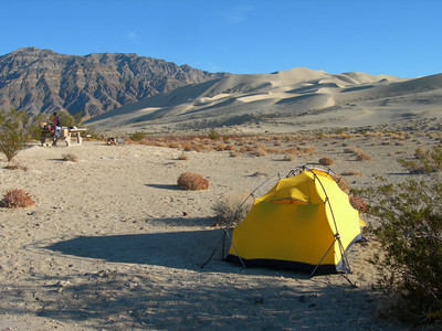 Campsite by the dunes