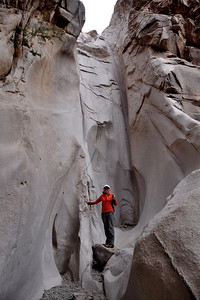 Dry fall at the end of the short canyon