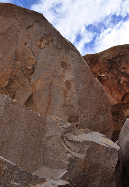 Another pictograph. The rock was a bit overhanging, leaving them protected.
