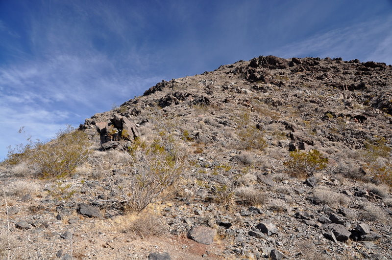 We came down a different route in order to visit the New American Mine ruins. It was a bit steeper, wish I had a person in this picture to give perspective.