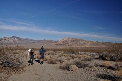 Hiking towards Ibex Peak.