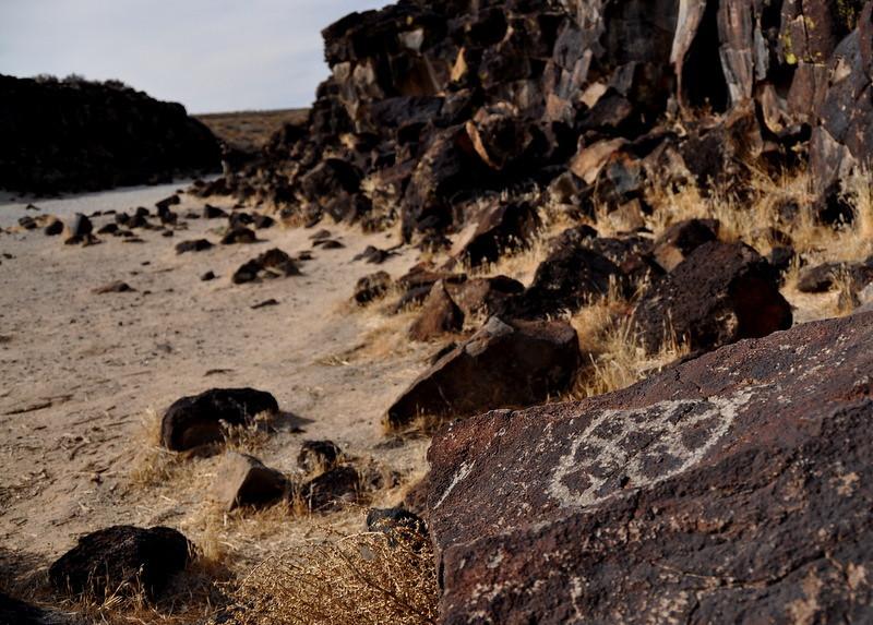 Inscription Canyon glyph - star or sun.