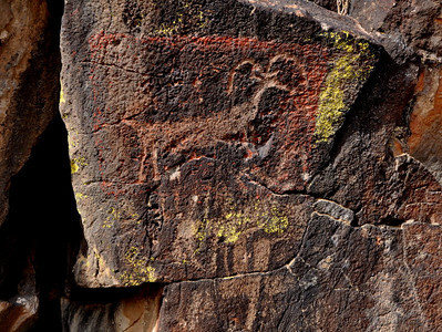 I read that the red color around this sheep is mold residue from an attempted casting of the glyph.