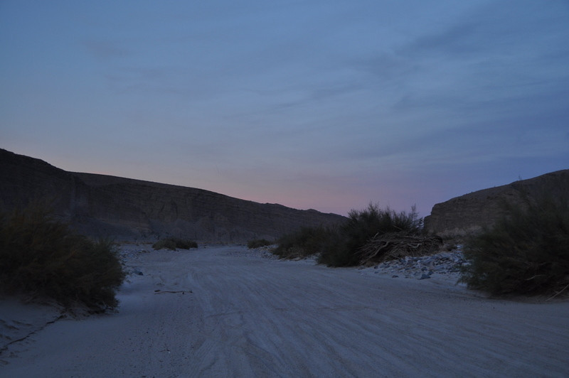 A sandy and wide stretch of the Mojave Road