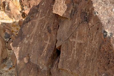 Human figures at Black Canyon
