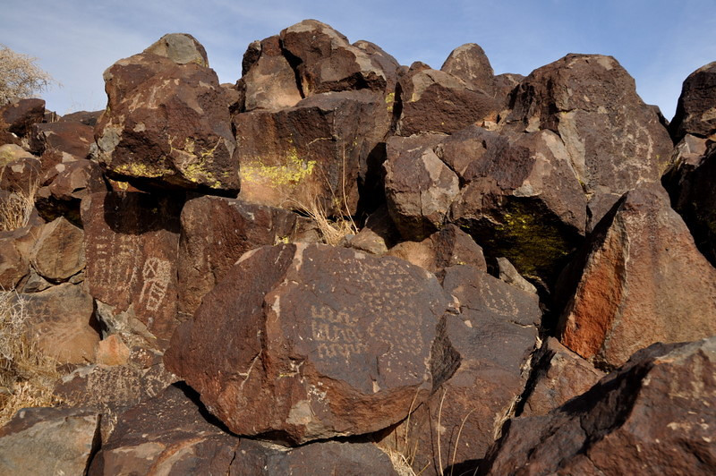 Miscellaneous abstract glyphs and Inscription Canyon