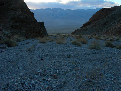 Heading out of the canyon before sunset.