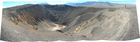 Bex on the rim of Ubehebe crater