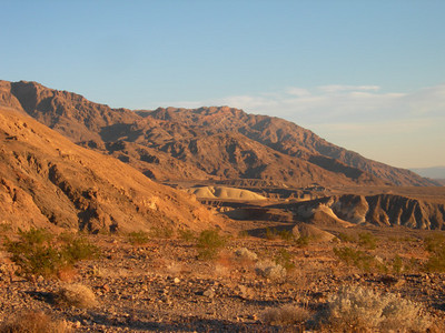 Looking south toward Fall and Titus canyons