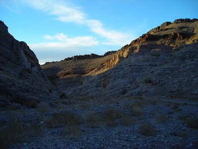 Lost Burro Gap at sunset..