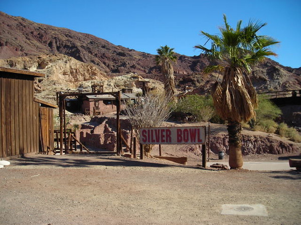 Calico Ghost Town<br /> <br /> A commercialized ghost town just outside of Barstow, was originally built around a silver mine.