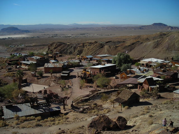 Looking down on Calico<br /> <br /> This place has shootout reenactments and a Mystery Spot, people. Awesome.