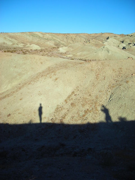 Shadows on the ridge<br /> <br /> Owl Canyon Campground