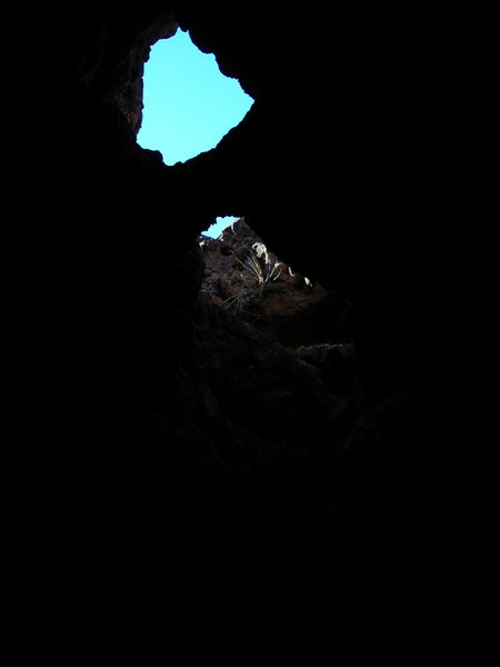 Skylight/arch.<br /> <br /> In the backcountry lava tube cave