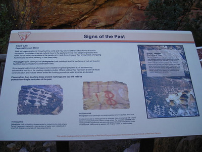 Next, we stopped by the petroglyphs/pictographs.  Petroglyphs are carved into the rock, pictographs are painted on the rock.