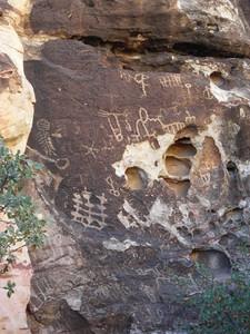 Petroglyphs.