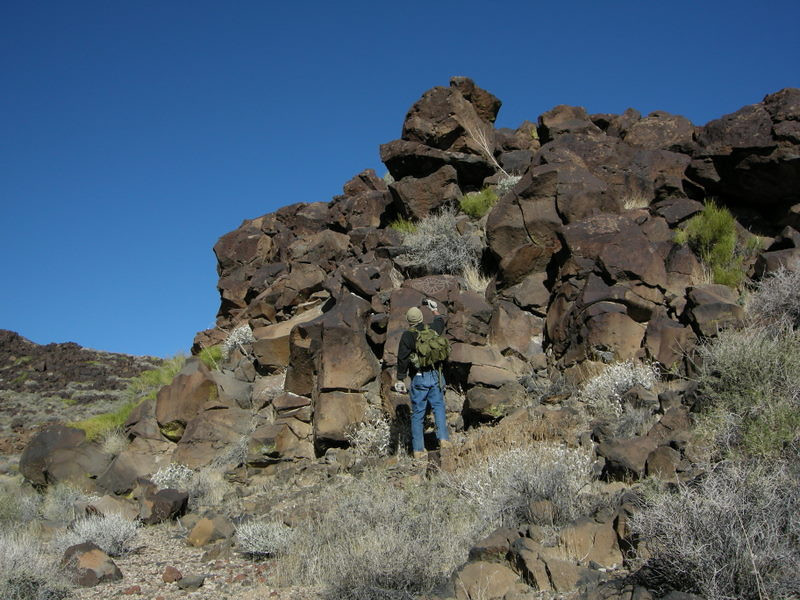 Tom G was the one who spotted the petroglyphs