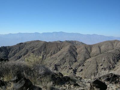 Looking west towards Telescope Peak  We climbed Telescope two years ago.