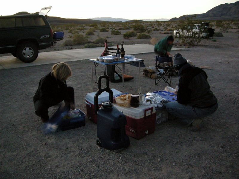 Thanksgiving dinner prep<br /> <br /> We actually had a full Thanksgiving dinner out here. It was delicious!