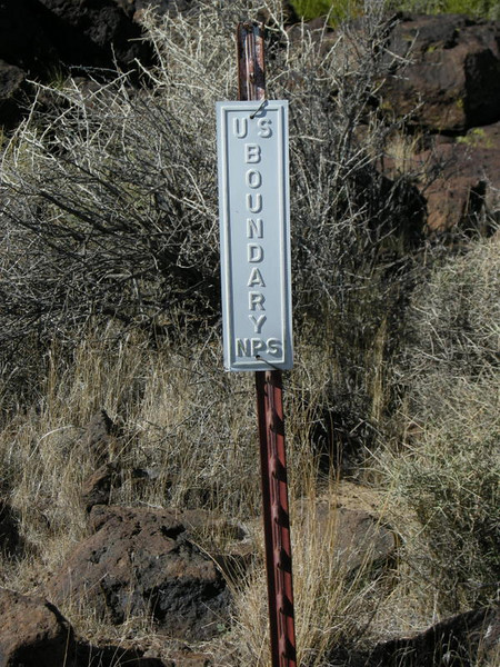 An old park boundary marker - the park extends past this now.