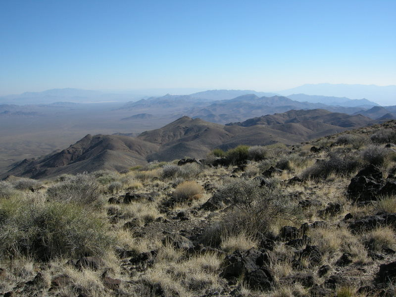 Looking south along the Funeral Range<br /> <br /> Funeral Peak is the highest in the local range