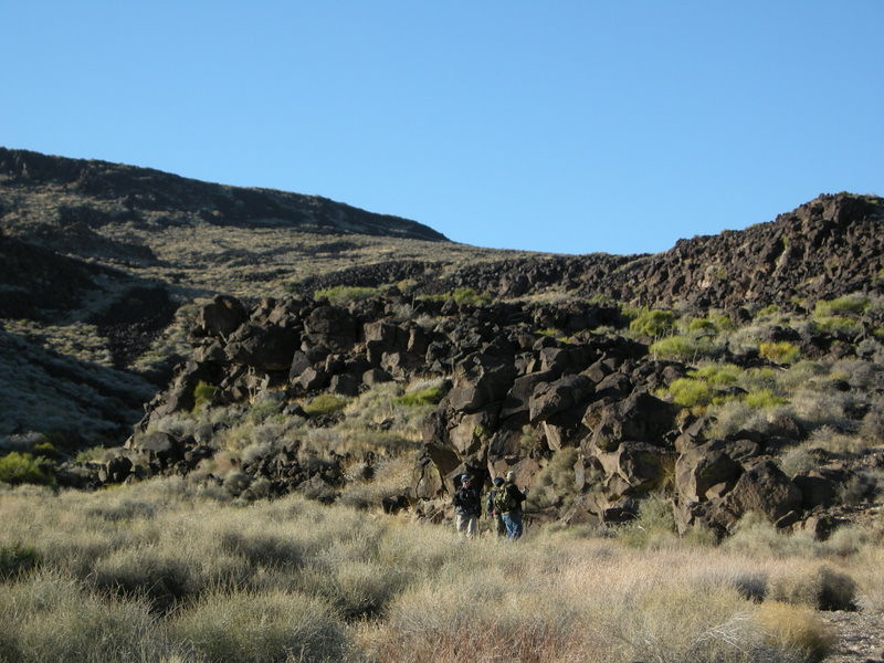 Heading back down through all of that annoying volcanic rock
