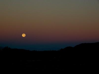 Early Saturday morning - moon set.