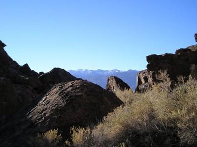 Sierra from boulders
