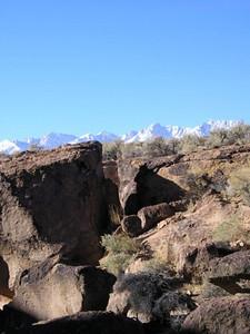 Sierra peaking over the rocks