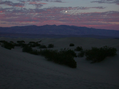 Moonrise over Death Valley