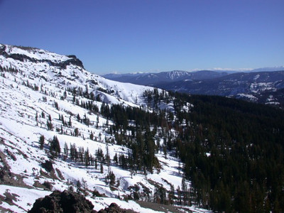 View from Castle peak